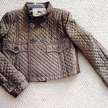 Burberry Bronze Quilted Jacket Size  2 Never Worn Photo