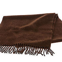 Burberry Brown Cashmere Fringe Scarf Photo