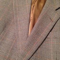 Burberry Brown Houndstooth Brown Blazer Men's 38r  Photo
