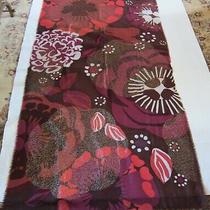 Burberry Brown/magenta/white/gold Rare Floral Gauze Large Wrap Shawl Scarf  Photo