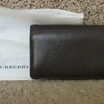 Burberry Brown Pebbled Leather Clutch Bag/wallet Photo