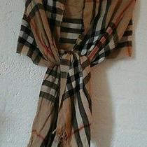 Burberry Camel Giant Check Crinkcrd Scarf  Photo