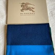 Burberry Cashmere Scarf Reversible New Without Tags in Burberry Box Photo