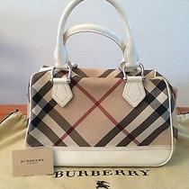 Burberry Check Print Satchel Photo