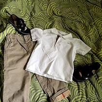 Burberry Children Boys 4y Outfit and Matching Shoes Photo