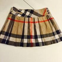 Burberry Children Girls Pleated Novacheck Mini Skirt Photo