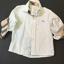 Burberry Children White Shirt Size 2y Photo