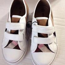 Burberry Children White Velcro Sneakers Size 31 Photo