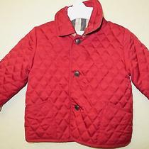 Burberry Childrens Military Red Raincoat Size 6m Photo
