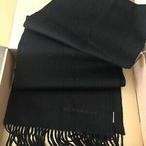 Burberry Classic Black Cashmere Scarf  Photo