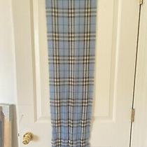 Burberry Classic Check Cashmere Scarf Light Blue - 100% Cashmere Photo