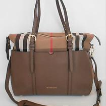 Burberry Classic Check & Leather Diaper Bag Photo