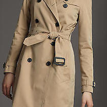 Burberry Classic Long Trench Coat - Size 8/10  Photo