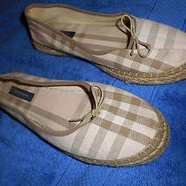Burberry Cloth Slipper Moccasin Shoes  Size 8.5 B Beautiful From Spain.  Photo