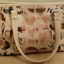 Burberry Coated Canvas Painted Heart Tote Bag Medium Authentic Photo
