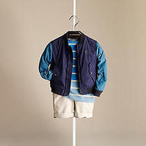 Burberry Contrast Sleeve Bomber Jacket Size 2 Nwt Photo