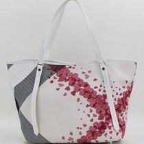 Burberry Cream Canvas Heart Print Tote Bag Photo
