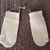 Burberry Everyday Ivory Mittens Size 52 New Photo