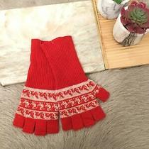 Burberry Fingerless Glove One Size Red (221) Photo