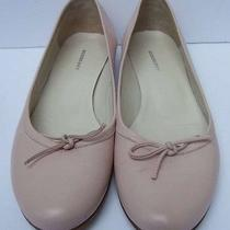 Burberry Flat Ballet Pink Blush Leather Shoes Size 39 Us 9 Photo