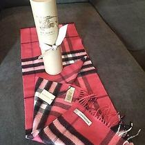 Burberry Giant Check Cashmere Scarf Nwt Photo