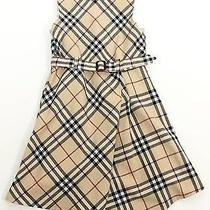 Burberry Girls Novacheck Pattern Belted Holiday Dress 4 Years  on Sale 398 Photo