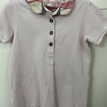 Burberry Girls Pink Top Short Sleeves Nova Check on Collar Sz 2 Photo