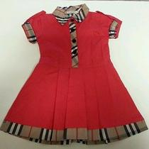 Burberry Girls Red Dress Size Small Photo