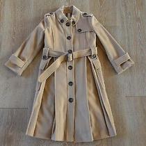 Burberry Girls Wool Coat in Camel Size 6 Euc Photo