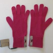 Burberry Gloves Raspberry Sorbet Knitted Cashmere Pink Plaid Solid to Check Nova Photo
