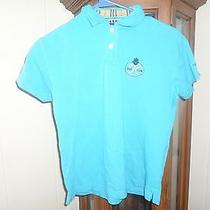 Burberry Golf the K Club Blue Polo Size Small Photo