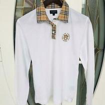 Burberry Golf Womens White Nova Check Sweater Jumper Cardigan Size S Photo