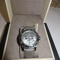 Burberry Gray Leather Watch Msrp 795.00 Photo