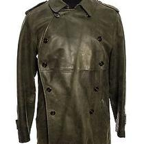Burberry Green Leather Coat Photo