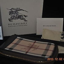 Burberry Haymaeket Anabel Wristlet Zip Around Iphone Android Phone Wallet Rare  Photo