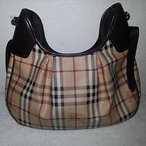 Burberry Haymarket Check Print Classic Hobo Bag Photo