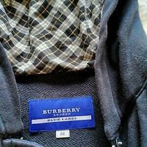 Burberry Hooded Toggle Coat Jacket Size 38 - Navy Burberry Winter Jacket Coat Photo