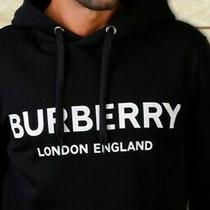 Burberry Hoodie Cardigan Men Size L Black Horseferry 1856 New Hooded Photo