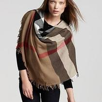 Burberry House Check Square Wool Scarf 110x110 Camel  Photo