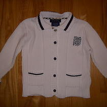 Burberry Infant Girl's White Cotton Cardigan Photo
