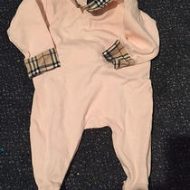 Burberry Infant Onesie in Pink With Novacheck Photo