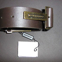 Burberry Leather Belt Authentic Photo
