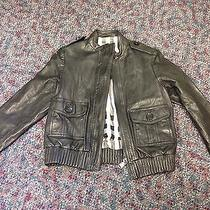 Burberry Leather Bomber Jacket Black Children's Size 8y Photo