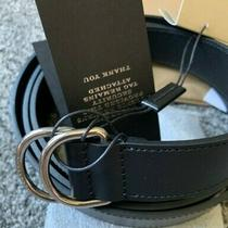 Burberry Leather Double D-Ring Belt - Black - Size 105 - Brand New Photo