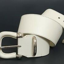 Burberry Leather White Belt 32/80 Photo