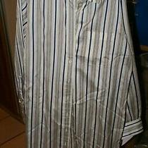 Burberry London 100% Silk Shirt Dress Button Down Long sz.10 Beige/blue Belt Photo