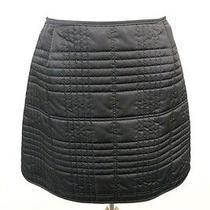 Burberry London Black Quilted Mini Skirt 10 Photo