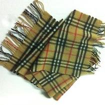 Burberry London Cashmere Classic Check Scarf Made in England- Authentic Photo