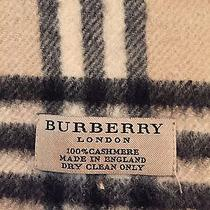 Burberry London Cashmere Scarf 100% Cashmere and Authentic Like New  Photo