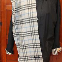 Burberry London Gray Nova Check Plaid Check 100% Cashmere Scarf Photo
